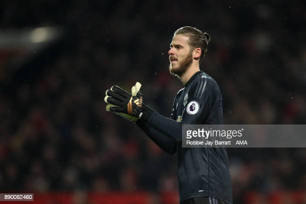David de Gea of Manchester United during the Premier League match between Manchester United and Manchester City at Old Trafford on December 10 2017...