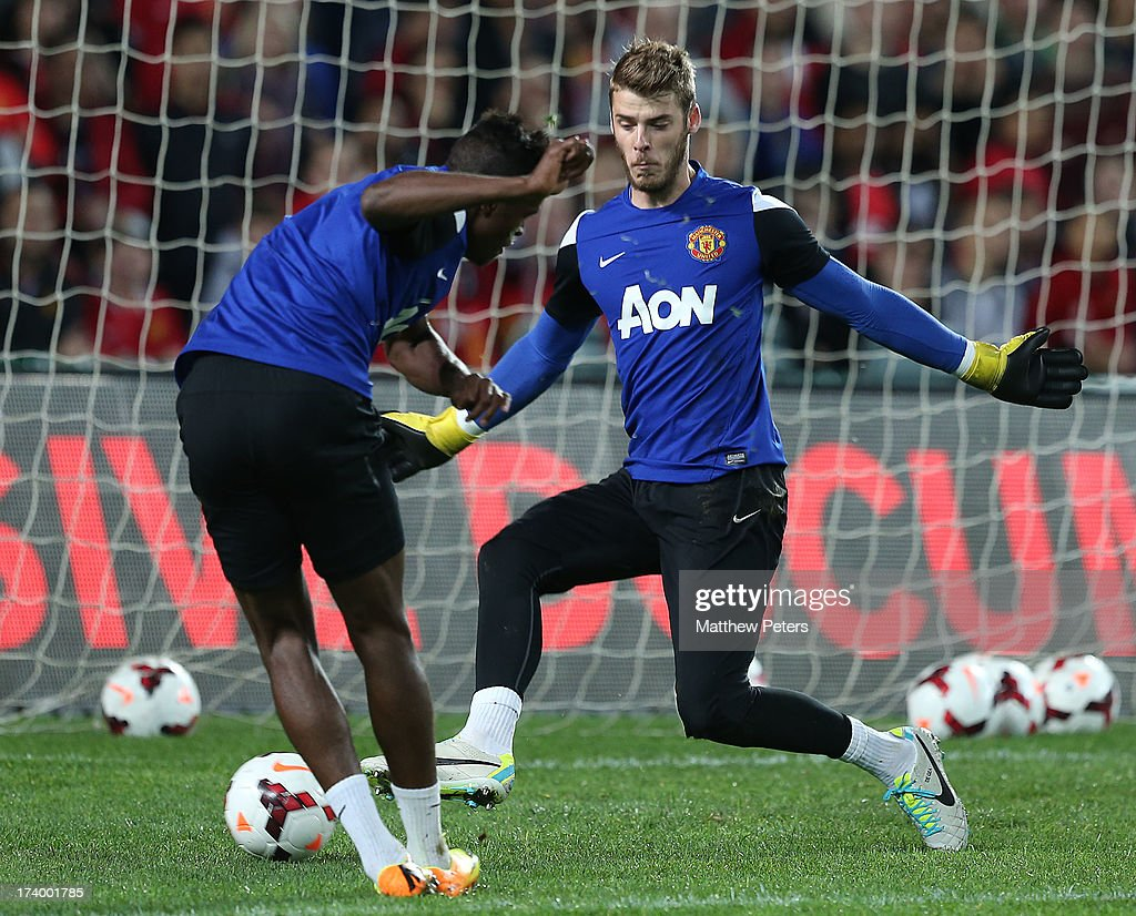 David de Gea of Manchester United in action during a first team training session as part of their pre-season tour of Bangkok, Australia, China, Japan and Hong Kong on July 19, 2013 in Sydney, Australia.