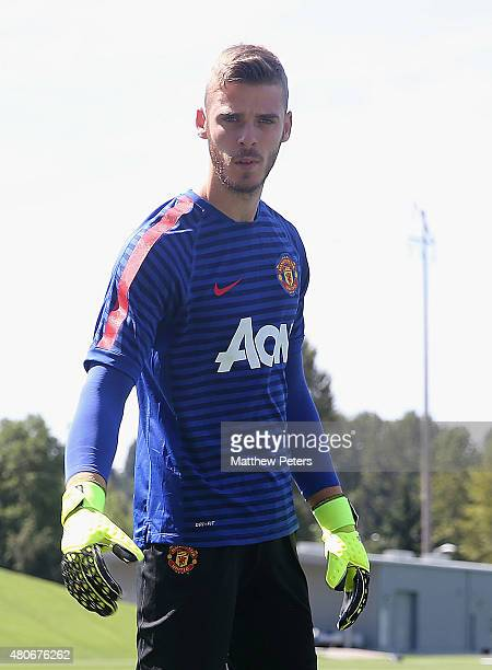 David de Gea of Manchester United in action during a first team training session as part of their preseason tour of the USA at VMAC on July 14 2015...