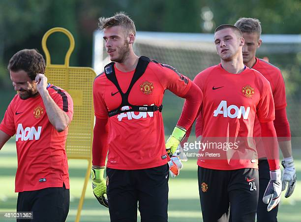 David de Gea of Manchester United in action during a first team training session as part of their preseason tour of the USA at VMAC on July 16 2015...