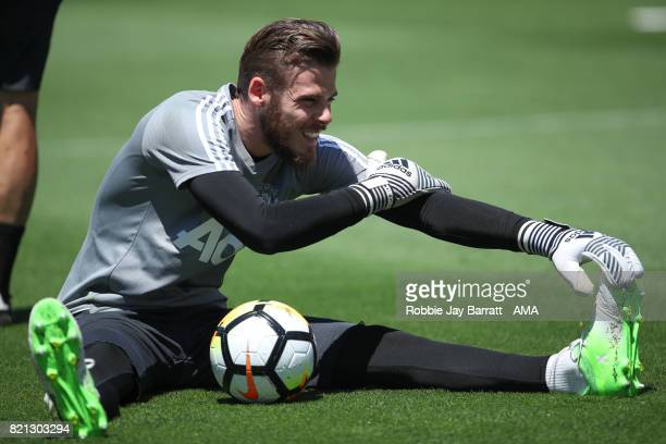 David de Gea of Manchester United prior to the International Champions Cup 2017 match between Real Madrid v Manchester United at Levi'a Stadium on...
