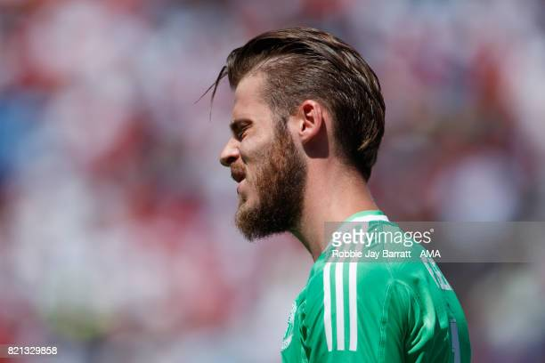 David de Gea of Manchester United reacts during the International Champions Cup 2017 match between Real Madrid v Manchester United at Levi'a Stadium...