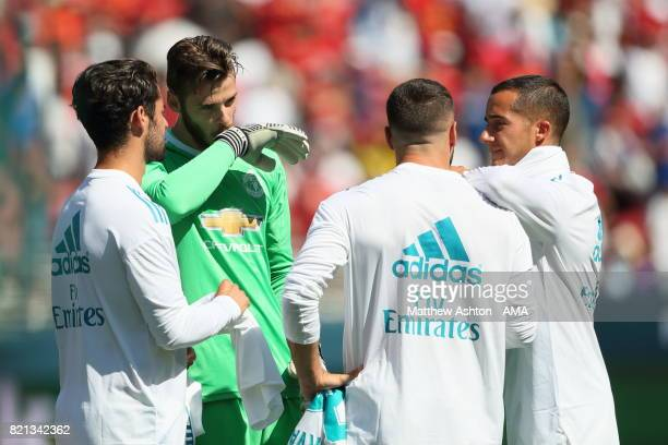 David de Gea of Manchester United with Real Madrid players during the International Champions Cup 2017 match between Real Madrid v Manchester United...