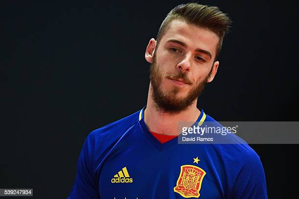 David de Gea of Spain attends a press conference on June 10 2016 in La Rochelle France