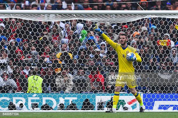 David de Gea of Spain reacts during the UEFA EURO 2016 Group D match between Spain and Czech Republic at Stadium Municipal on June 13 2016 in...