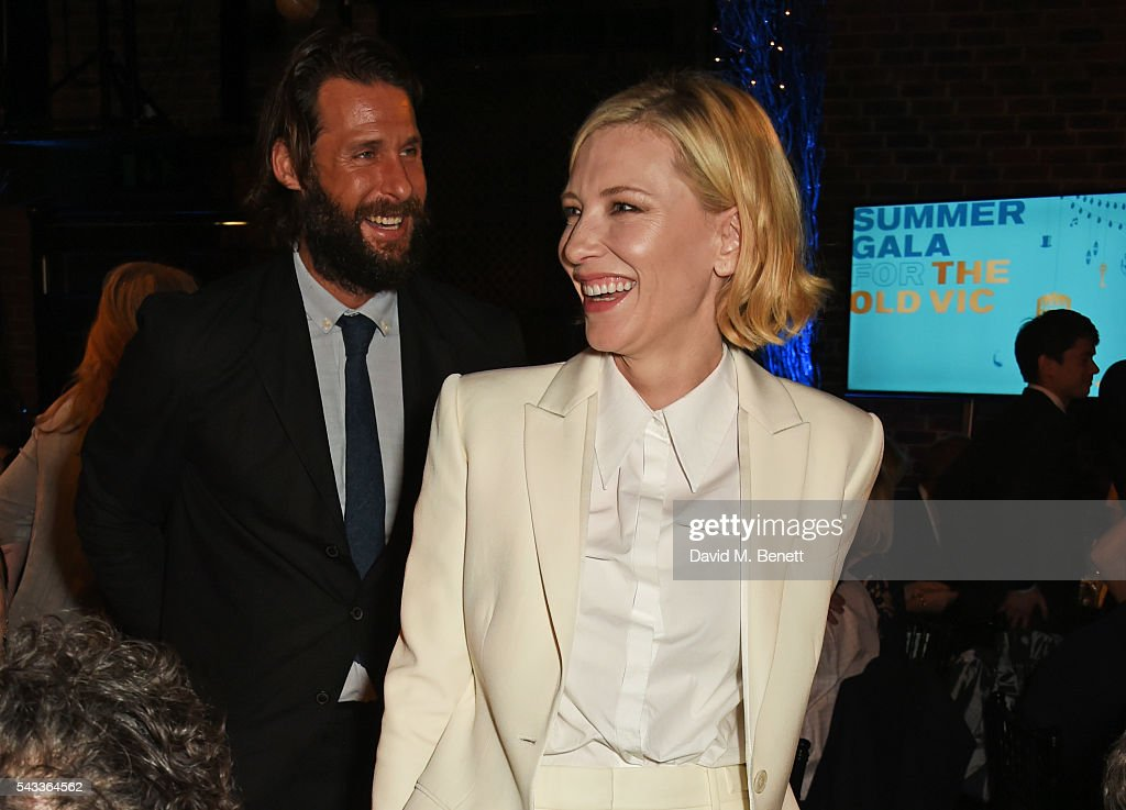 David de Rothschild (L) and <a gi-track='captionPersonalityLinkClicked' href=/galleries/search?phrase=Cate+Blanchett&family=editorial&specificpeople=201621 ng-click='$event.stopPropagation()'>Cate Blanchett</a> attend the Summer Gala for The Old Vic at The Brewery on June 27, 2016 in London, England.