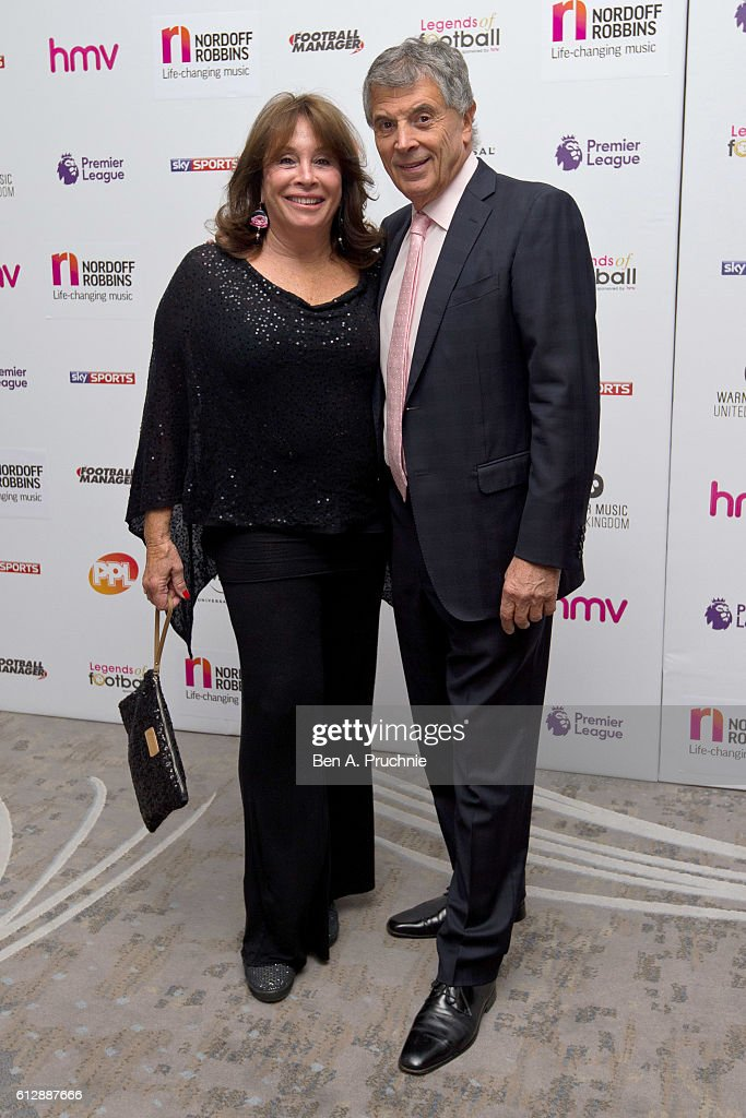 David Dean (R) attends the 21st Legends of football event to celebrate 25 seasons of the Premier League and raise money for music therapy charity Nordoff Robbins at The Grosvenor House Hotel on October 5, 2016 in London, England.