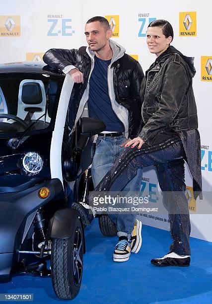 David Delfin and Bimba Bose attend Twizy Parade Renault presentation at El Matadero on November 24 2011 in Madrid Spain