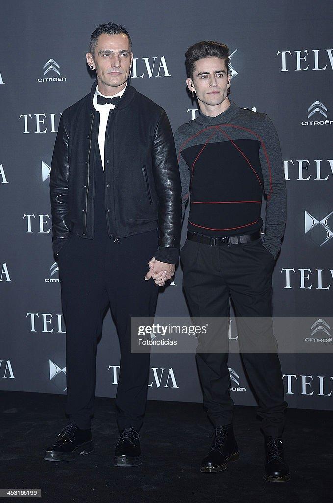 David Delfin and Pelayo Diez attend Telva Fashion Awards at the Palacio de Cibeles on December 2, 2013 in Madrid, Spain.