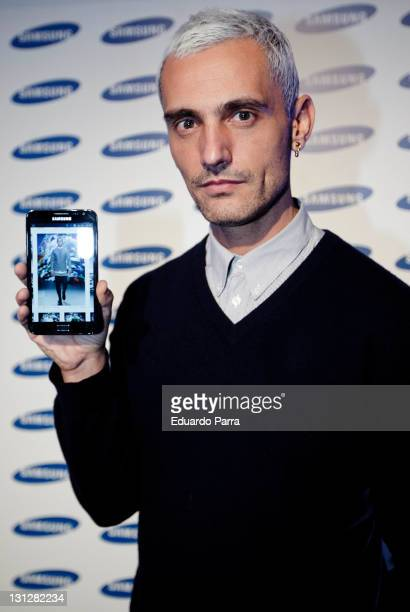 David Delfin attends the new Samsung Galaxy Note press conference at 28012 gallery on November 3 2011 in Madrid Spain