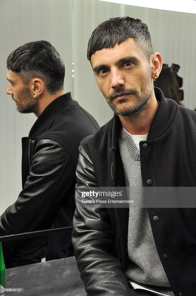 David Delfin attends Xavi Garcia's Hairdresser at Salon 44 on April 4, 2013 in Madrid, Spain.