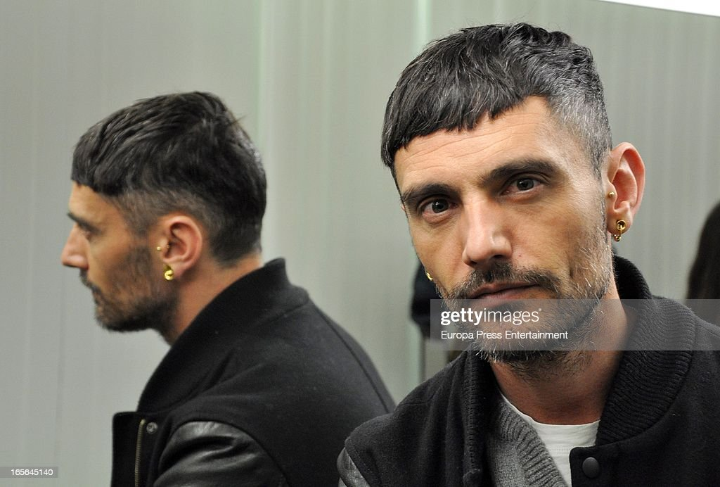David Delfin attends Xavi Garcia's Hairdresser at Salon 44 on April 4, 2013 in Madrid, Spain.