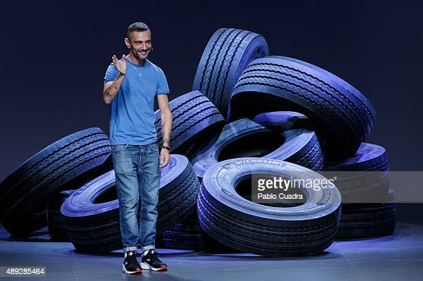 David Delfin walks the runway after his show during the MercedesBenz Fashion Week Madrid Spring/Summer 2016 at Ifema on September 20 2015 in Madrid...