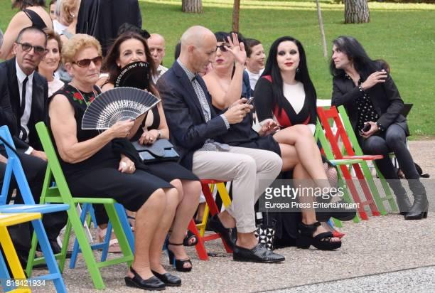 David Delfin's mother Maria Gonzalez Corbacho Modesto Lomba Alaska and Mario Vaquerizo attend the National Fashion Award to David Delfin The designer...
