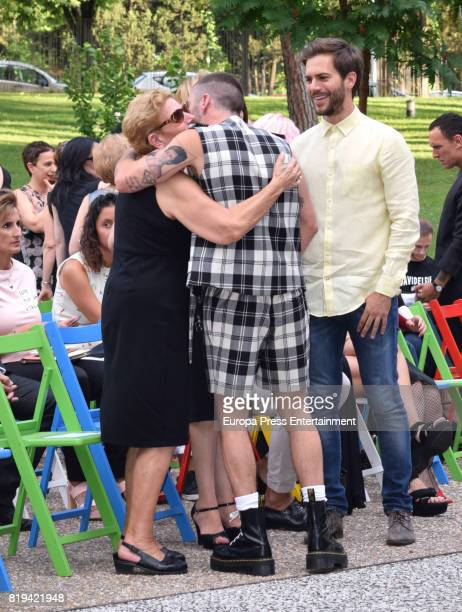 David Delfin's mother Maria Gonzalez Corbacho Pelayo Diaz and Marc Clotet attend the National Fashion Award to David Delfin The designer died last...