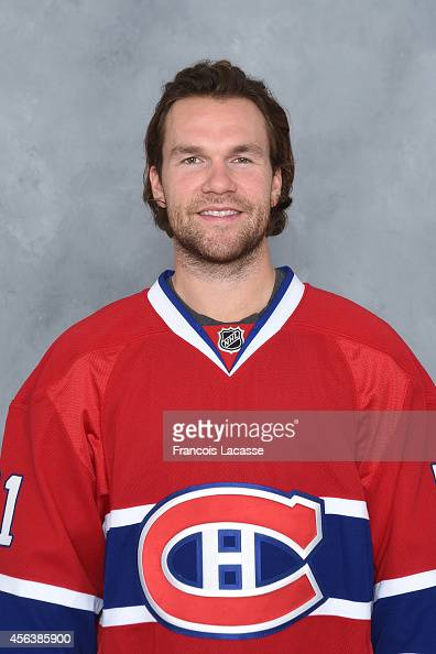 David Desharnais of the Montreal Canadiens poses for his official headshot for the 20142015 season on September 18 2014 at the Bell Sports Complex in...