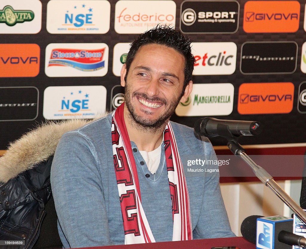 David Di Michele of Reggina attend at press conference at Oreste Grinillo Stadium on January 14, 2013 in Reggio Calabria, Italy.