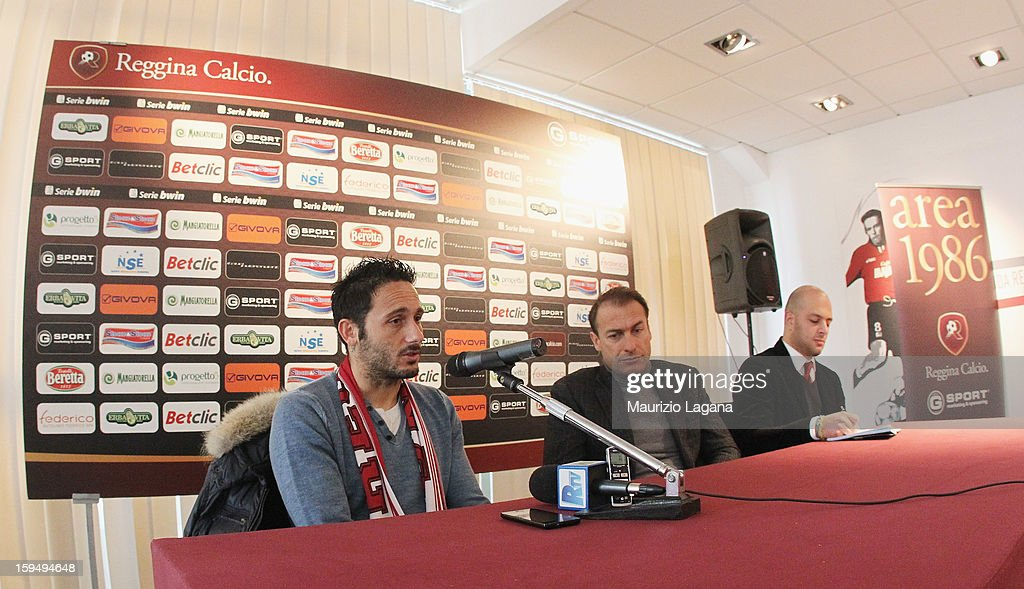 David Di Michele of Reggina attends at press conference at Oreste Grinillo Stadium on January 14, 2013 in Reggio Calabria, Italy.