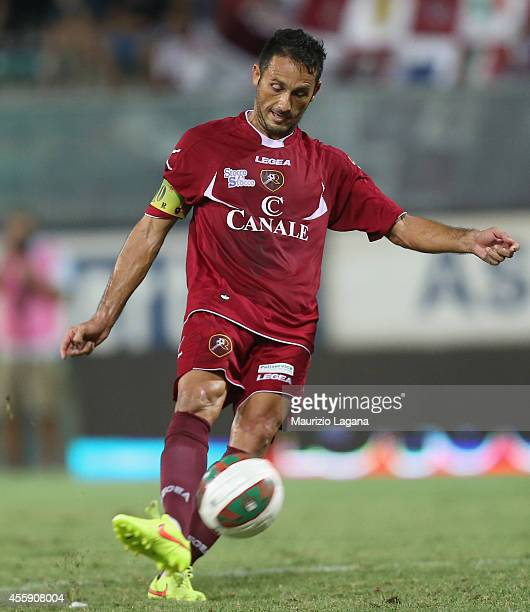 David Di Michele of Reggina during the Lega Pro match between Reggina Calcio and ACR Messina at Stadio Oreste Granillo on September 12 2014 in Reggio...