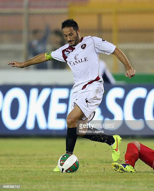David Di Michele of Reggina during the Lega Pro match between US Lecce and Reggina Calcio at Stadio Via del Mare on September 19 2014 in Lecce Italy