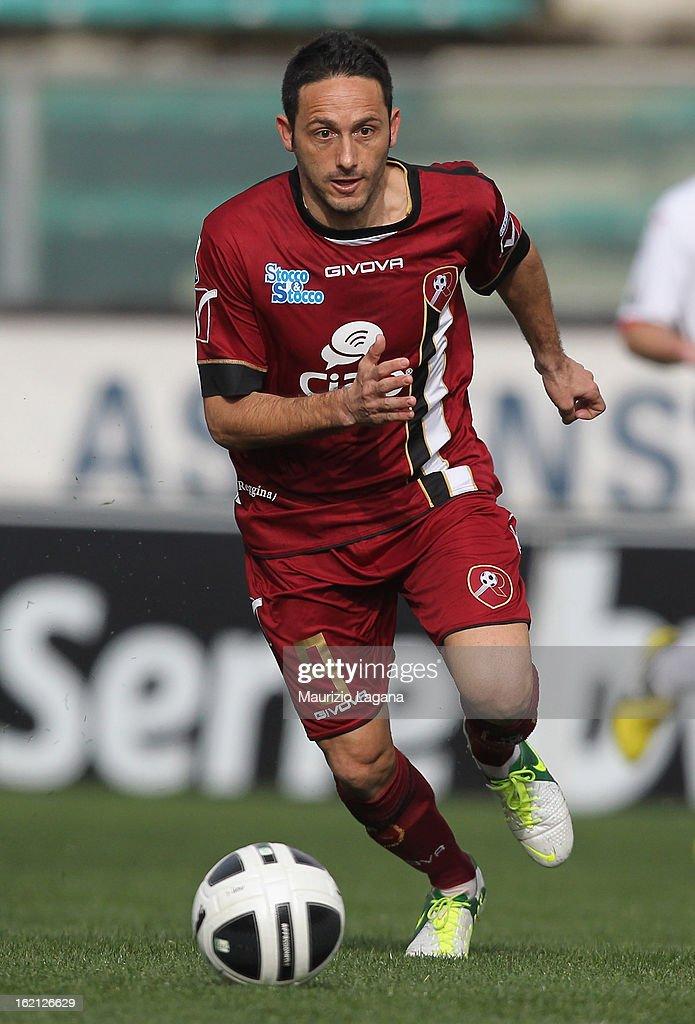 David Di Michele of Reggina during the Serie B match between Reggina Calcio and Calcio Padova on February 16, 2013 in Reggio Calabria, Italy.