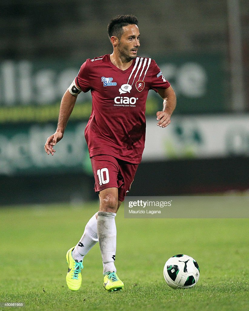 David Di Michele of Reggina during the Serie B match between Reggina Calcio and US Citta di Palermo at Stadio Oreste Granillo on November 16, 2013 in Reggio Calabria, Italy.
