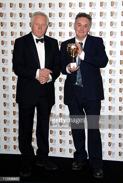 David Dimbleby and guest during The 2006 British Academy Television Awards Press Room at Grosvenor House in London Great Britain