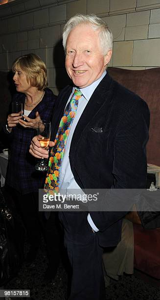 David Dimbleby attends the VIP screening of The Ghost at The Court House Hotel on March 30 2010 in London England