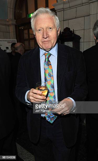 David Dimbleby attends the VIP screening of 'The Ghost' on March 30 2010 in London England