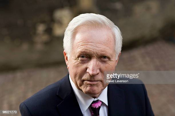 David Dimbleby Author and broadcaster poses for a portrait at the Oxford Literary Festival in Christ Church on March 24 2010 in Oxford England