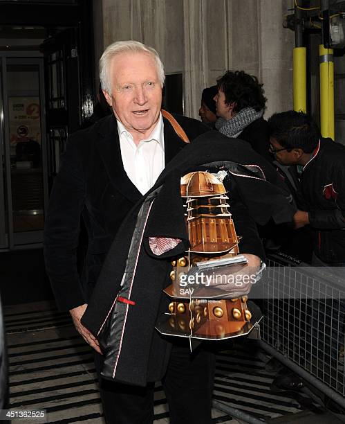 David Dimbleby pictured leaving the BBC on November 22 2013 in London England