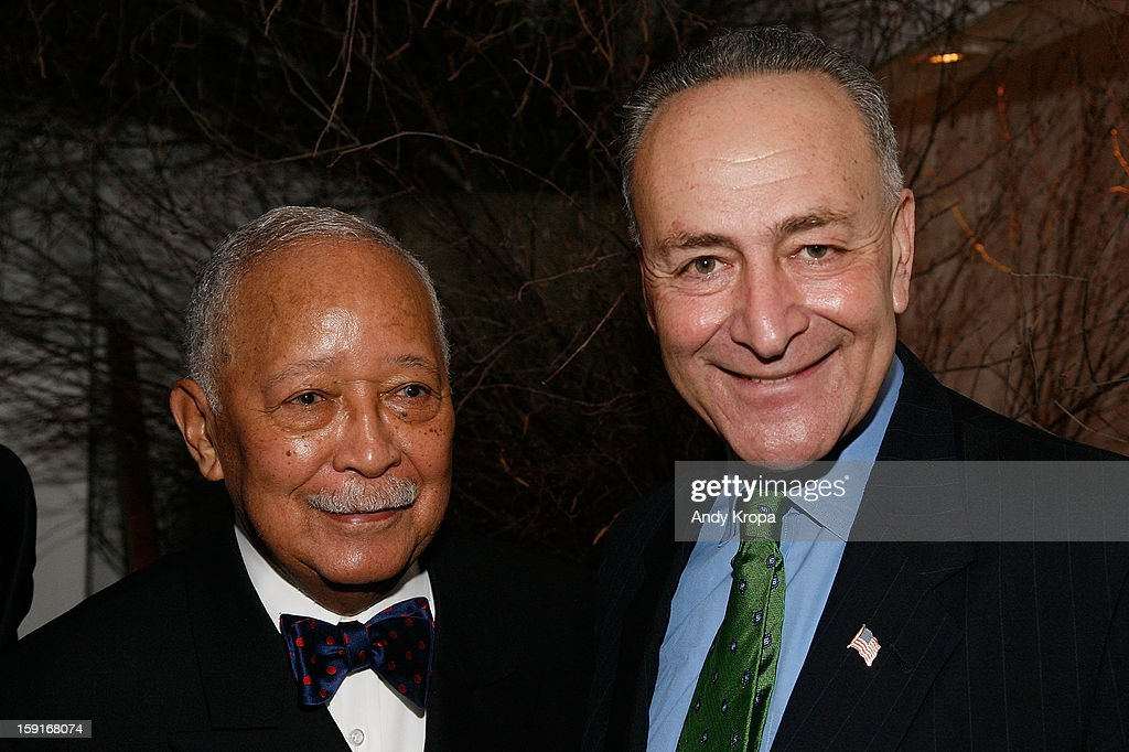 David Dinkins and Sen. Charles Schumer attend Loews Regency Hotel's Inaugural Power Breakfast at Park Avenue Winter on January 9, 2013 in New York City.