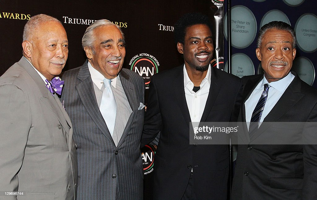 David Dinkins, Charlie Rangel, Chris Rock and Al Sharpton attend the 2nd Annual Triumph Awards at the Rose Theater, Jazz at Lincoln Center on October 19, 2011 in New York City.