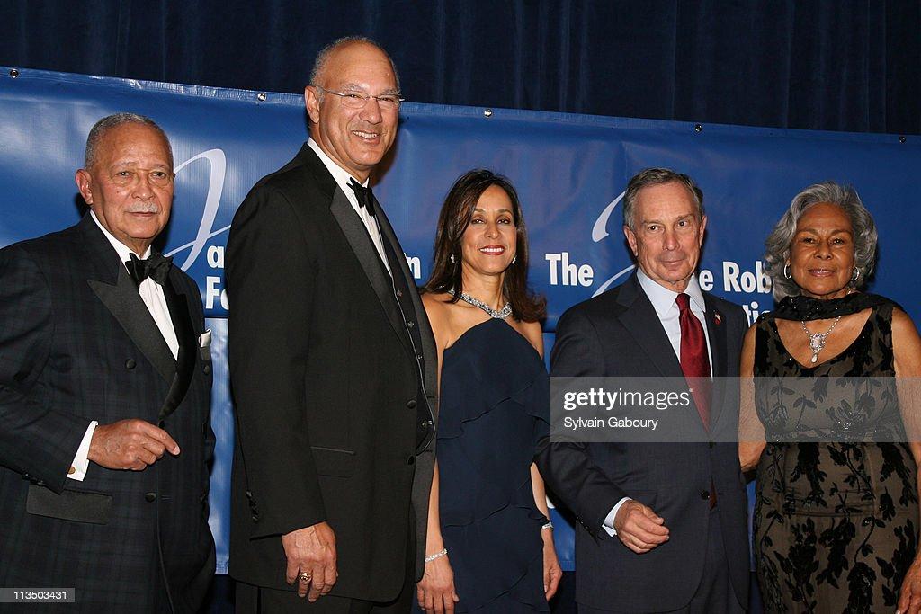 David Dinkins Leonard S Coleman Della Britton Baeza Mayor Michael Bloomberg and Rachel Robinson