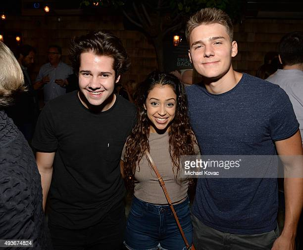 David Dobrik Liza Koshy and Alex Ernst attend the after party of the Los Angeles Special Screening of Broad Green Pictures' 'I Smile Back' on October...