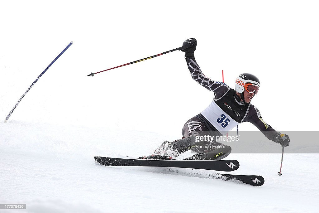 David Donaldson of Canada competes during the Alpine Slalom (FIS Australia New Zealand Cup) during day seven of the Winter Games NZ at Coronet Peak on August 21, 2013 in Queenstown, New Zealand.