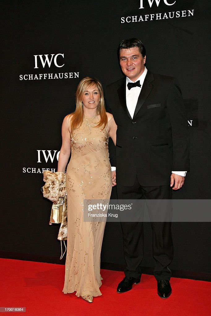 <a gi-track='captionPersonalityLinkClicked' href=/galleries/search?phrase=David+Douillet&family=editorial&specificpeople=220892 ng-click='$event.stopPropagation()'>David Douillet</a> (Laureus Academy) and wife Valerie at The 'Iwc Grande Soiree Aviateur' On of the SIHH in Geneva International Airport.