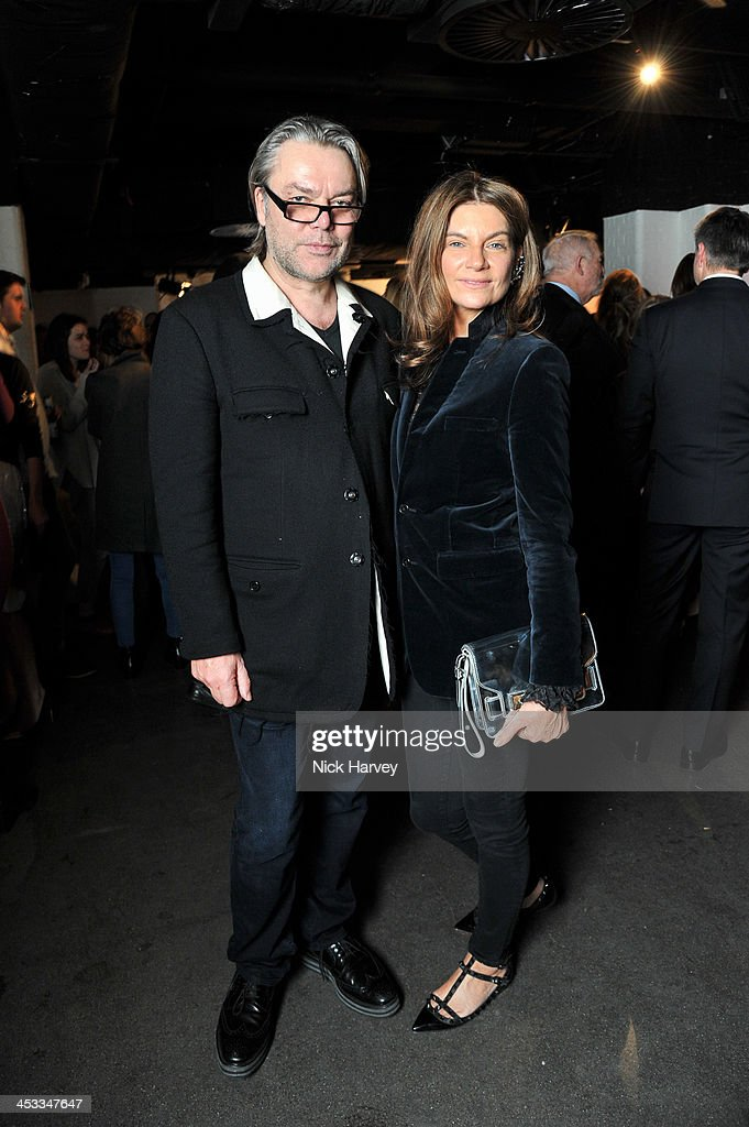 David Downton (L) and <a gi-track='captionPersonalityLinkClicked' href=/galleries/search?phrase=Natalie+Massenet&family=editorial&specificpeople=2118990 ng-click='$event.stopPropagation()'>Natalie Massenet</a> attend the Fashion Fringe 10 Year Anniversary Party at the London Film Museum on December 3, 2013 in London, England.