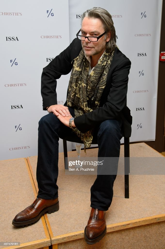 David Downton attends the Fashion Illustration Gallery At Christie's, which is a celebration of fashionable art in partnership with Issa London with support from Blakes hotel on December 17, 2013 in London, England.
