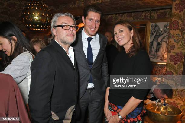 David Downton guest and Caroline Rush attend The Fashion Awards 2017 nominees party in partnership with Swarovski at 5 Hertford Street on October 23...