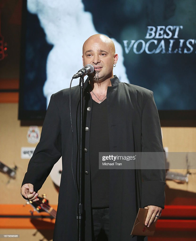 David Draiman of Disturbed / Device performs at the 5th Annual Revolver Golden Gods Award Show held at Club Nokia on May 2, 2013 in Los Angeles, California.