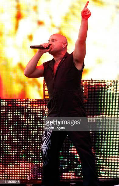 David Draiman of Disturbed perform during the 2011 Rock On The Range festival at Crew Stadium on May 22 2011 in Columbus Ohio