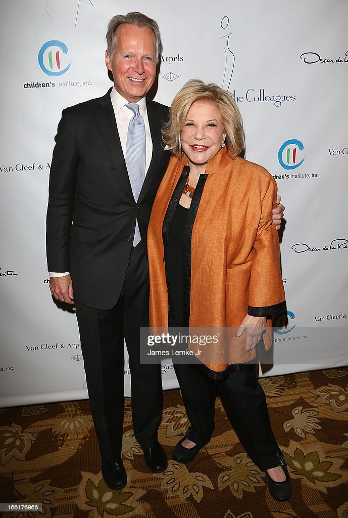 David Dreier and Wallis Annenberg attend The Colleagues 25th annual spring luncheon honoring Wallis Annenberg held at the Beverly Wilshire Four Seasons Hotel on April 9, 2013 in Beverly Hills, California.