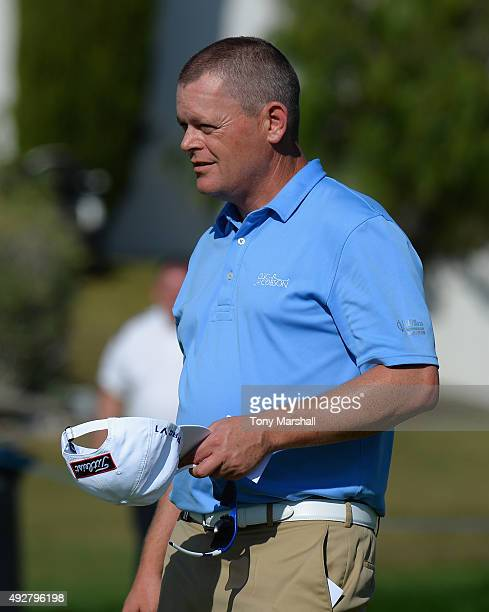 David Drysdale of Scotland after completing his round during the first round of the Portugal Masters at Oceanico Victoria Golf Club on October 15...