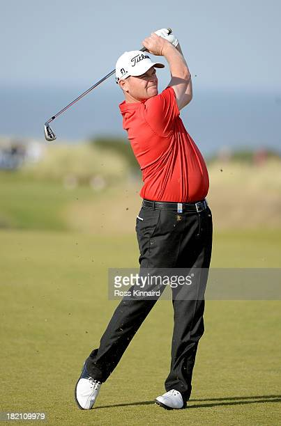 David Drysdale of Scotland during the third round of the 2013 Alfred Dunhill Links Championship at the Kingsbarns Golf Club on September 28 2013 in...