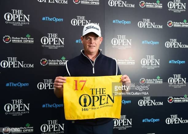 David Drysdale of Scotland pictured after winning qualification to the Open at Royal Birkdale following his final round at the Dubai Duty Free Irish...