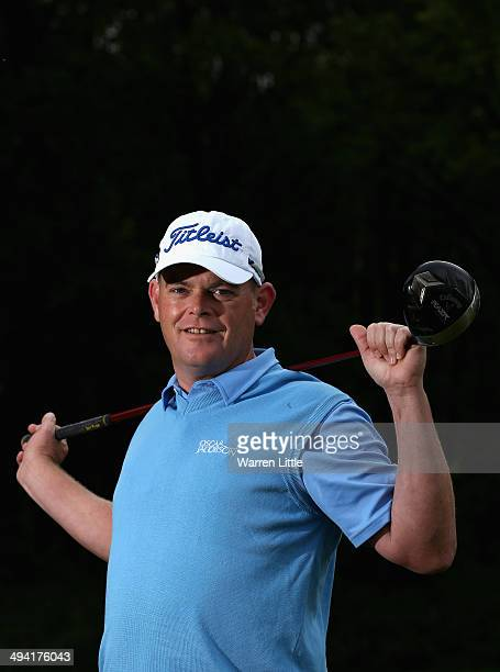 David Drysdale of Scotland poses for a portrait ahead of the BMW PGA Championship on the West Course at Wentworth on May 20 2014 in Virginia Water...