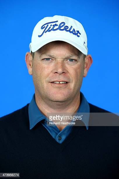 David Drysdale of Scotland poses for a portrait during a practice day for the BMW PGA Championships at Wentworth on May 19 2015 in Virginia Water...