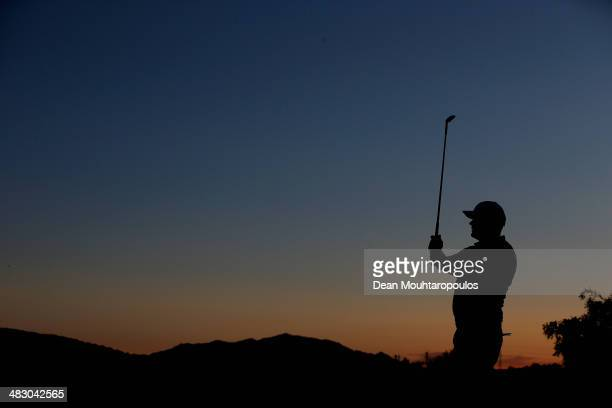 David Drysdale of Scotland practices on the driving range prior to the Final Round of the NH Collection Open held at La Reserva de Sotogrande Club de...