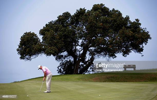 David Drysdale of Scotland putts on the 13th green during the ProAm prior to the Africa Open 2014 at the East London Golf Club on February 12 2014 in...